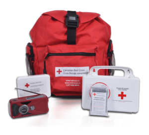 Photo de la trousse de secours disponible à la Croix-Rouge