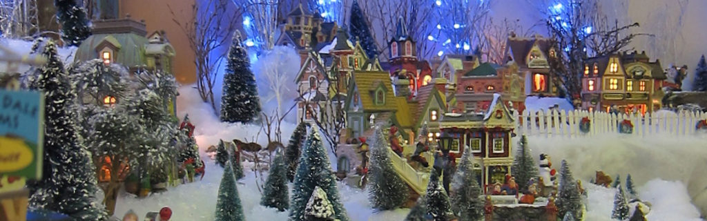 Photo d'un village miniature de Noël
