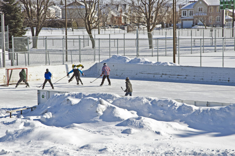 Patinoire du parc du Ruisseau • Photo: James Laflamme
